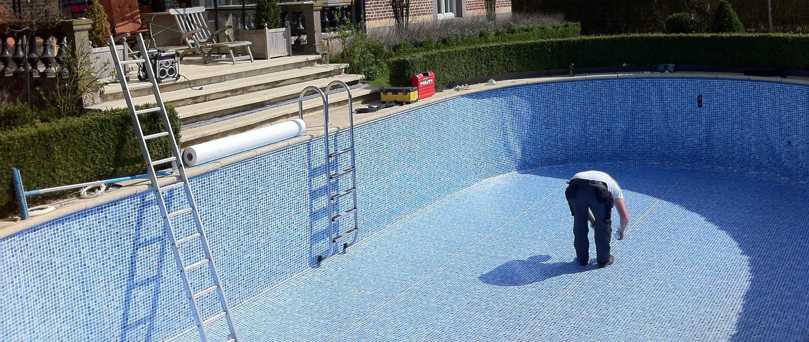 Zwembadreparatie zwembad lek app nederland v o f zwembaden sauna s en spa s - Zwembad kleur liner ...