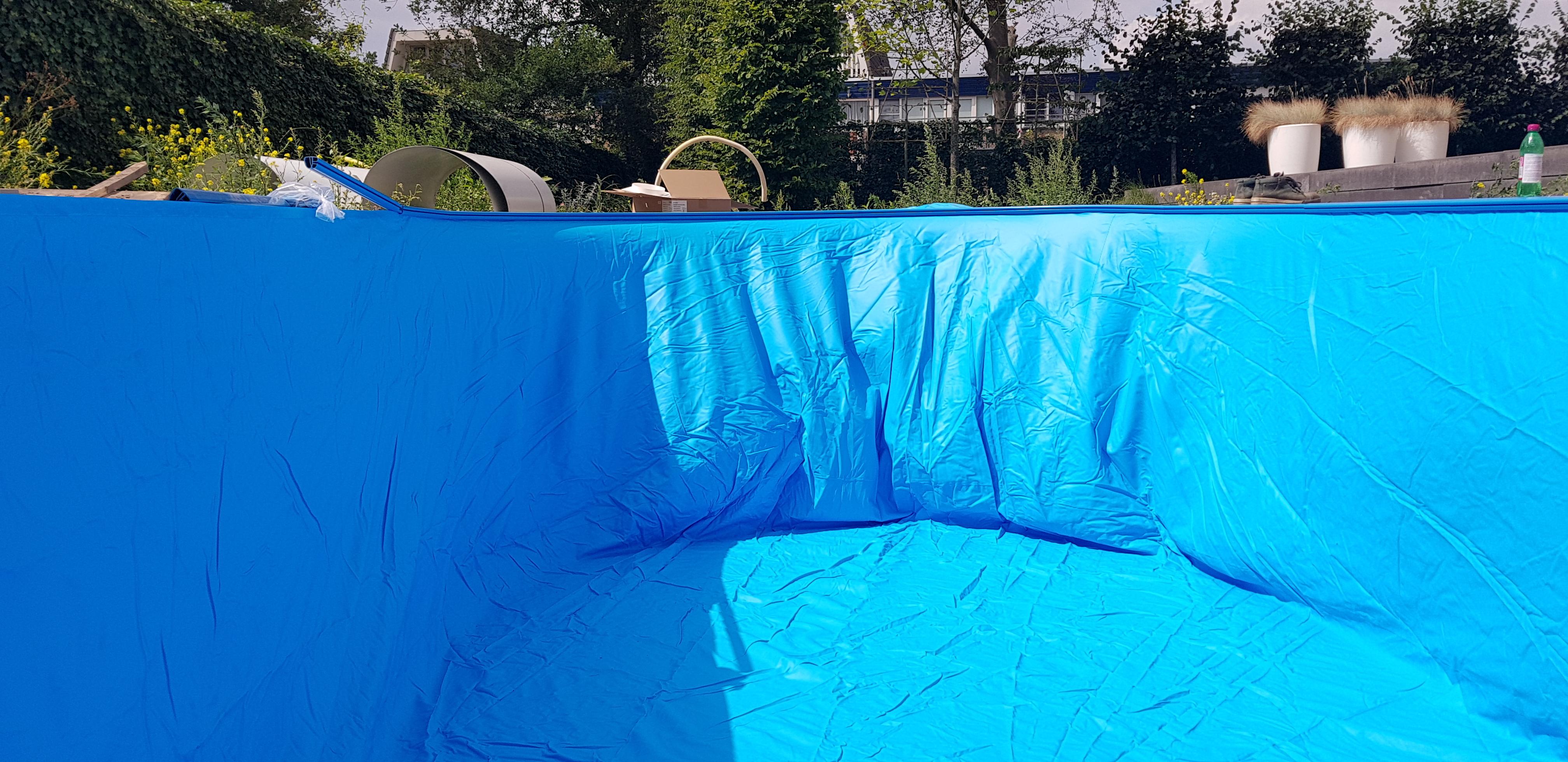 zwembadliner blauw