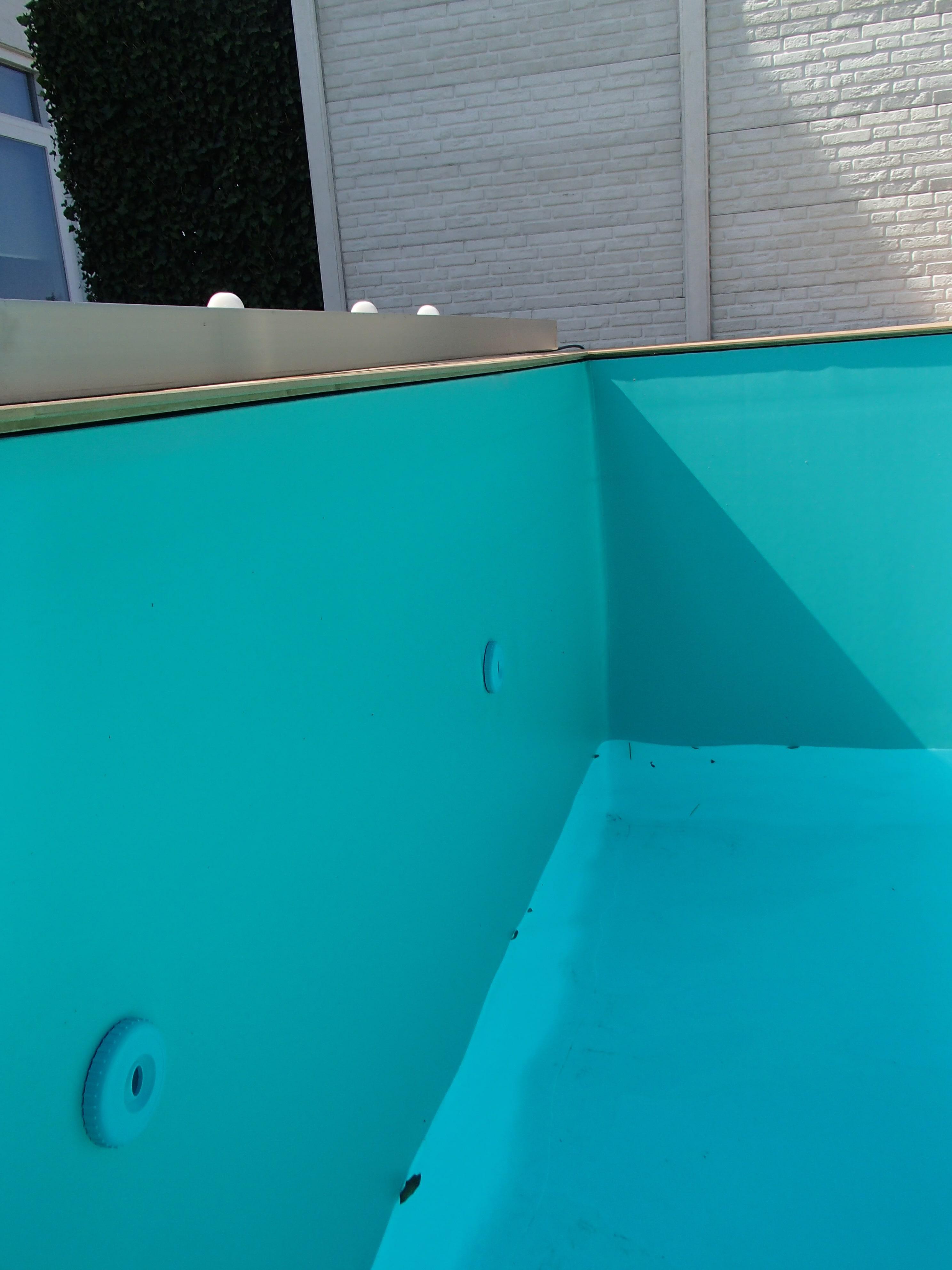 zwembadfolie Groen lassen